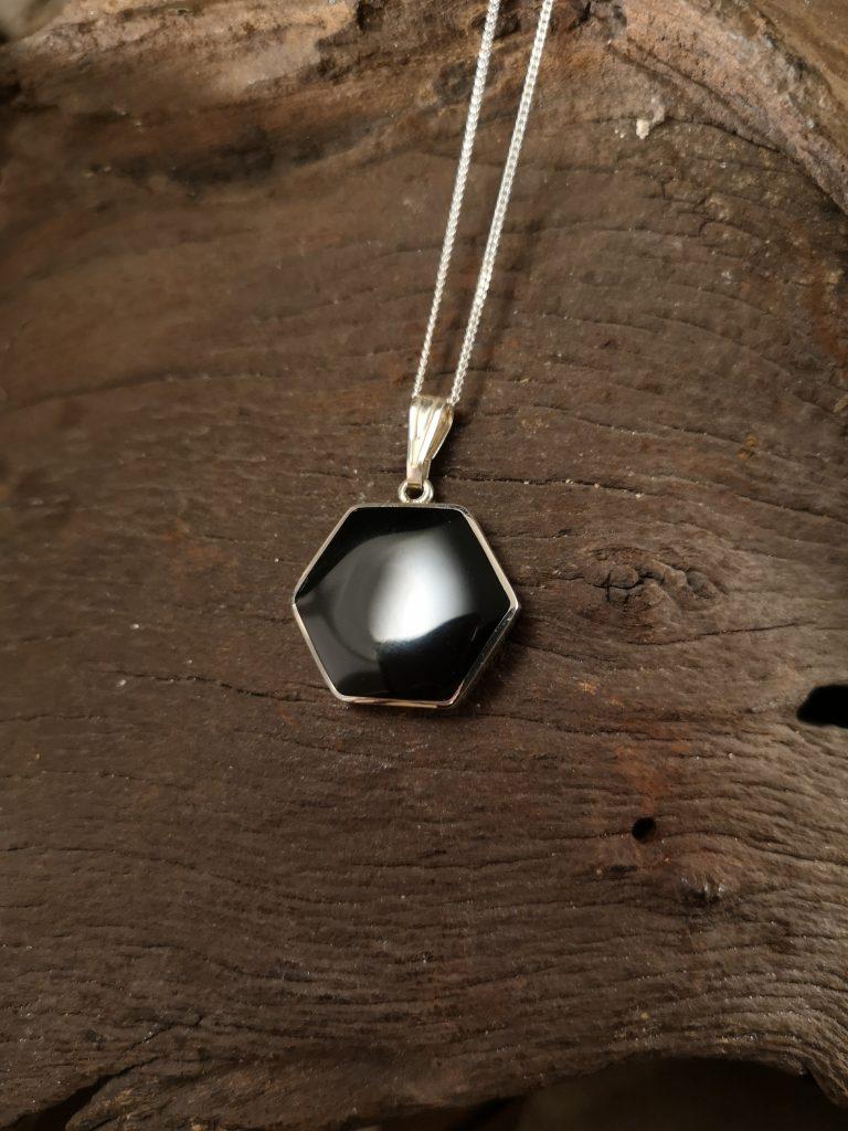 Medium hexagonal pendant