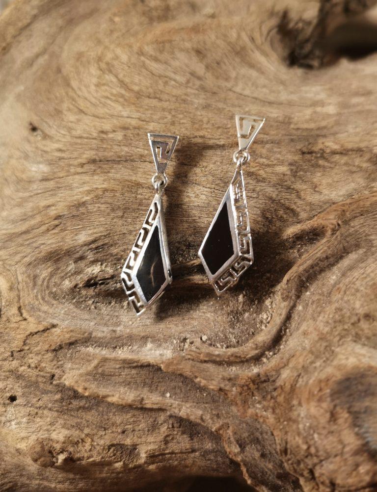 Kite stud dropper earrings