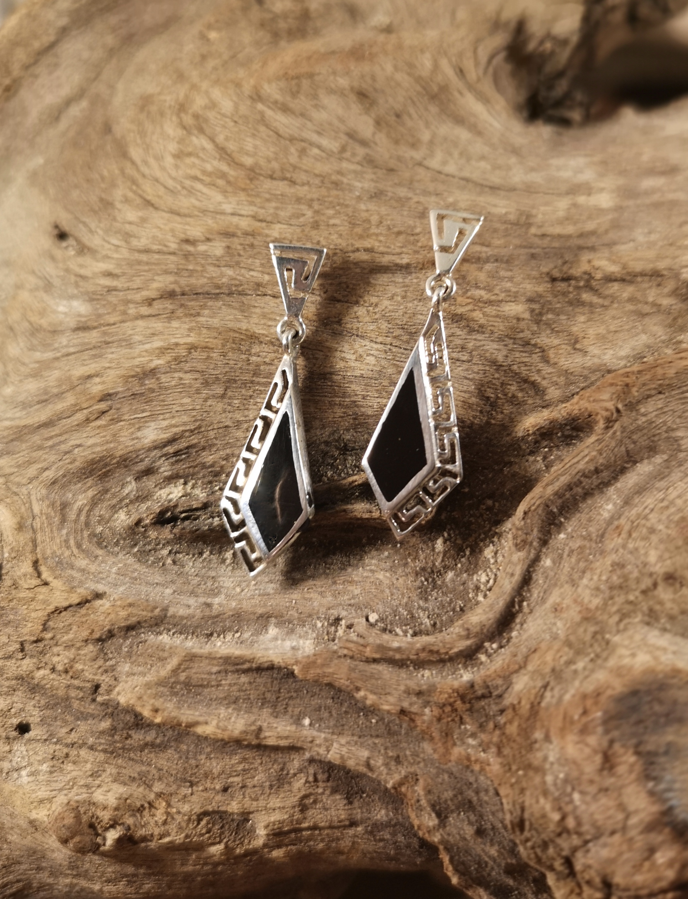 Kite stud dropper earrings