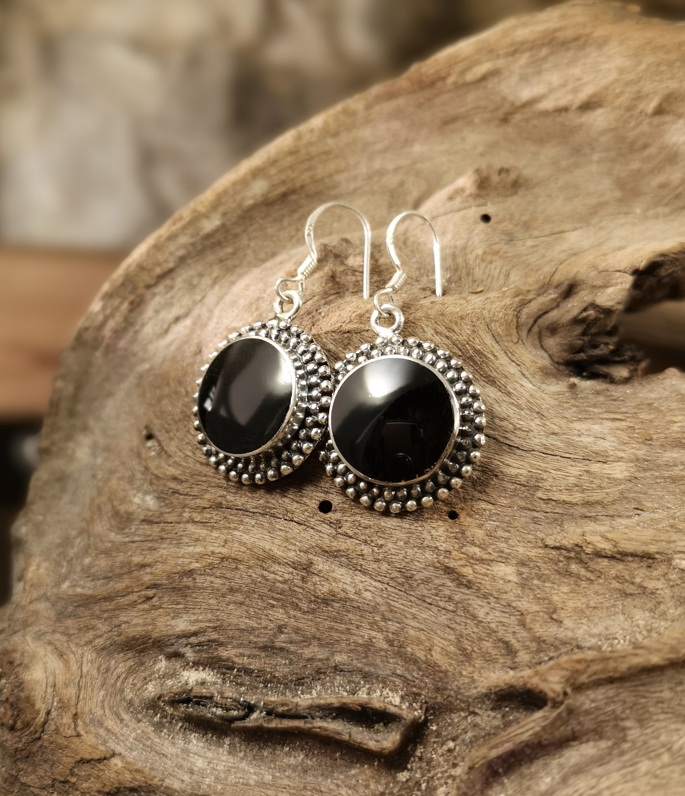 Large double dot earrings