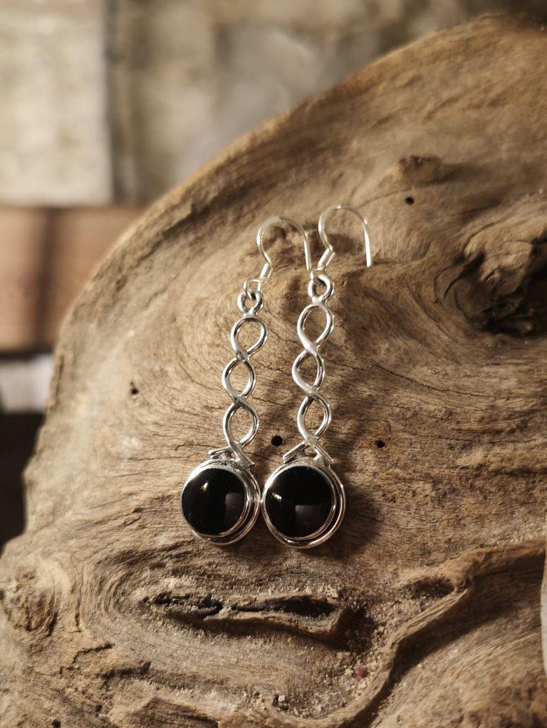 Super-long twist shank drop earrings