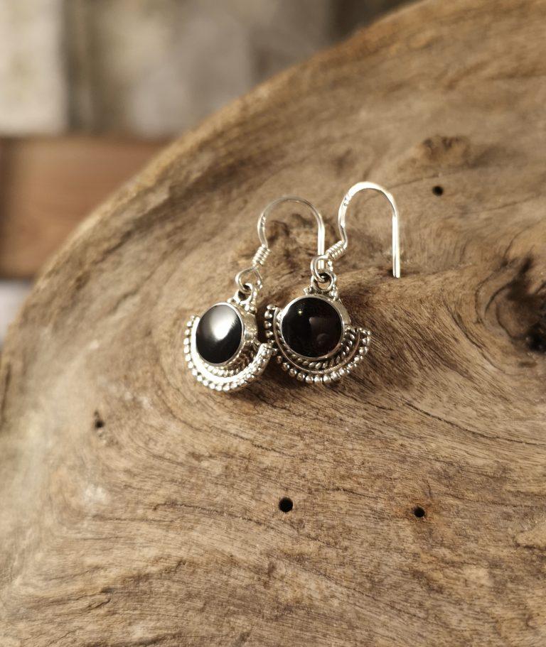Small Aztec drop earring