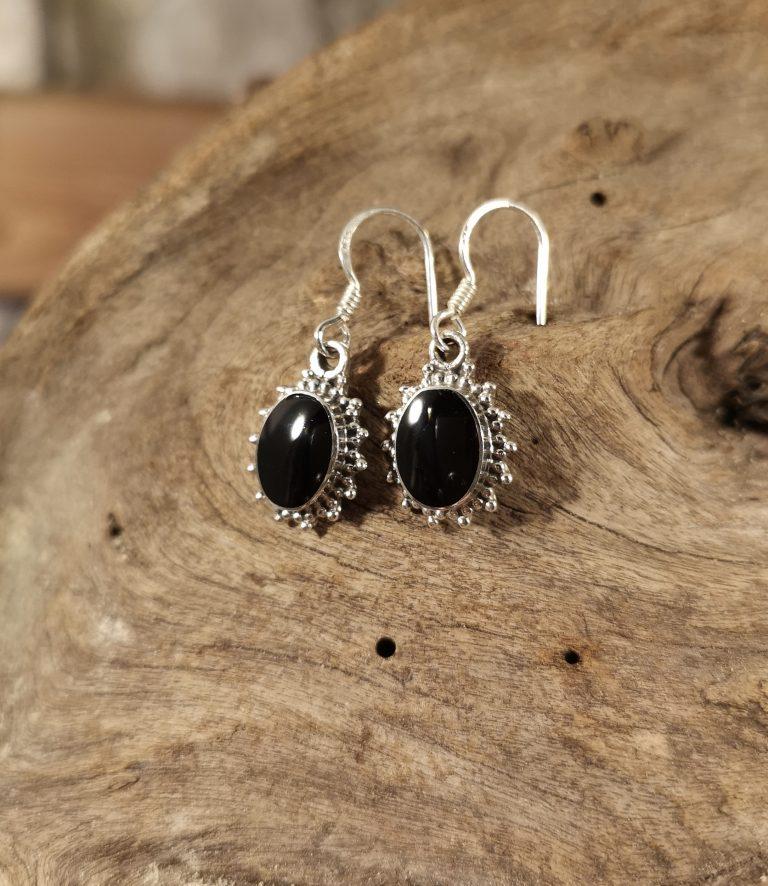 Fancy oval drop earrings