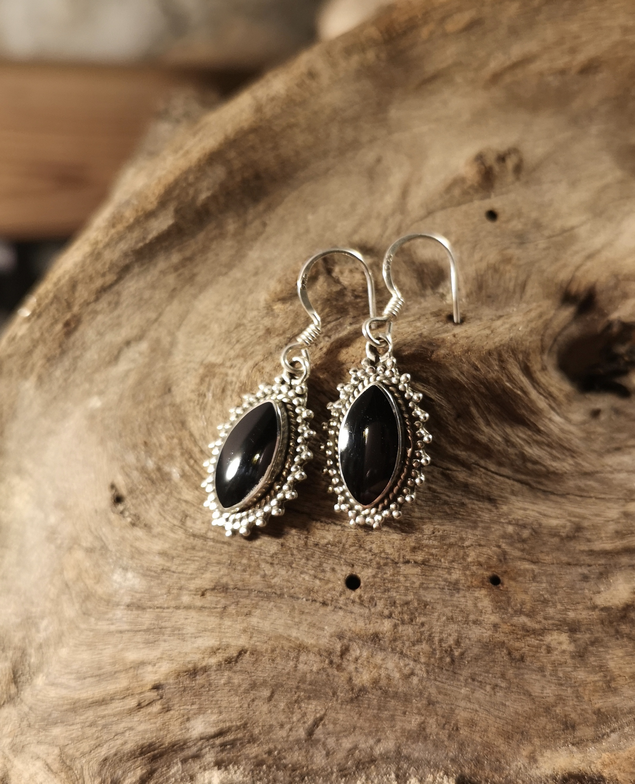 Fancy marquise drop earrings