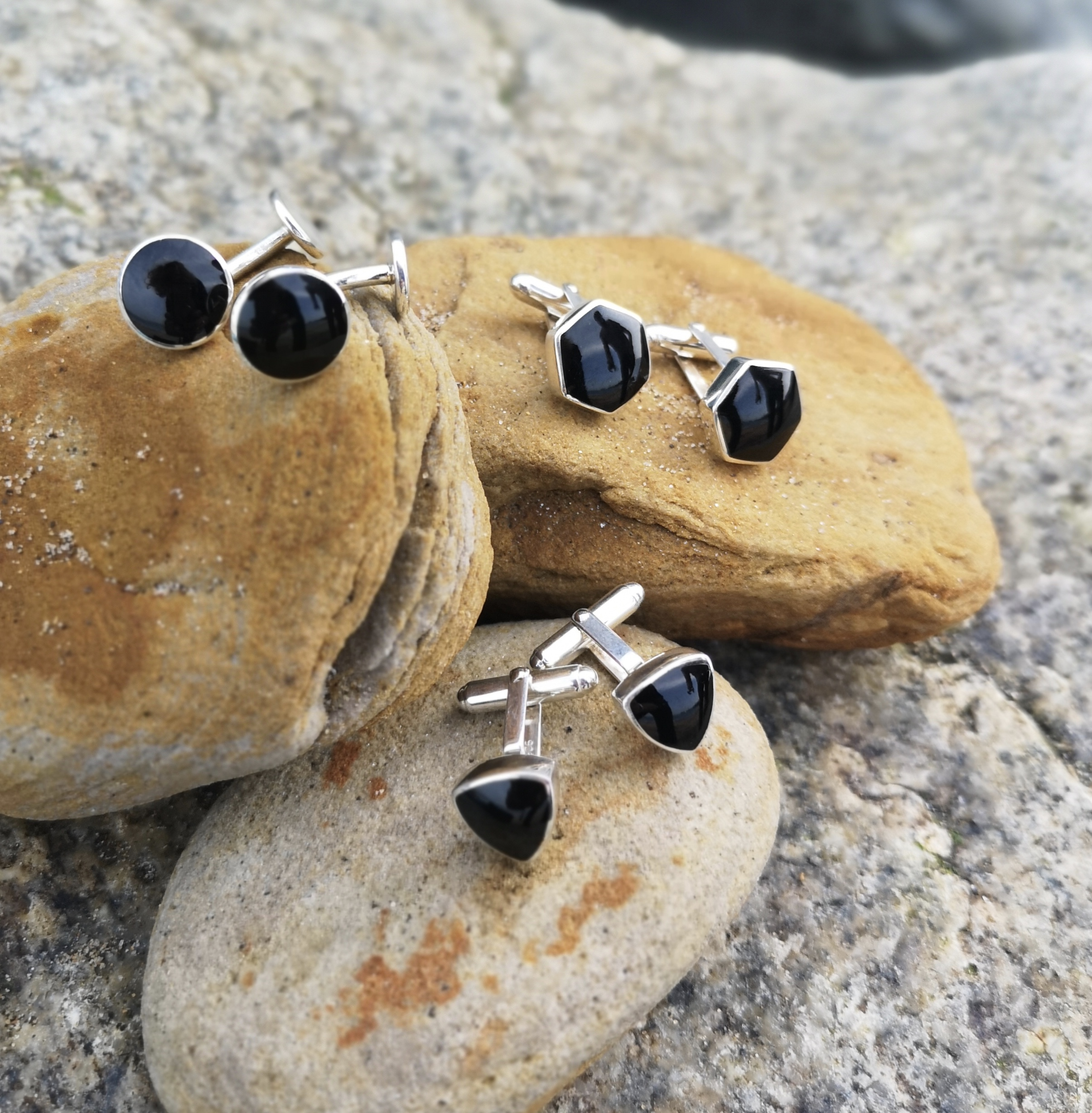 Whitby Jet cufflinks