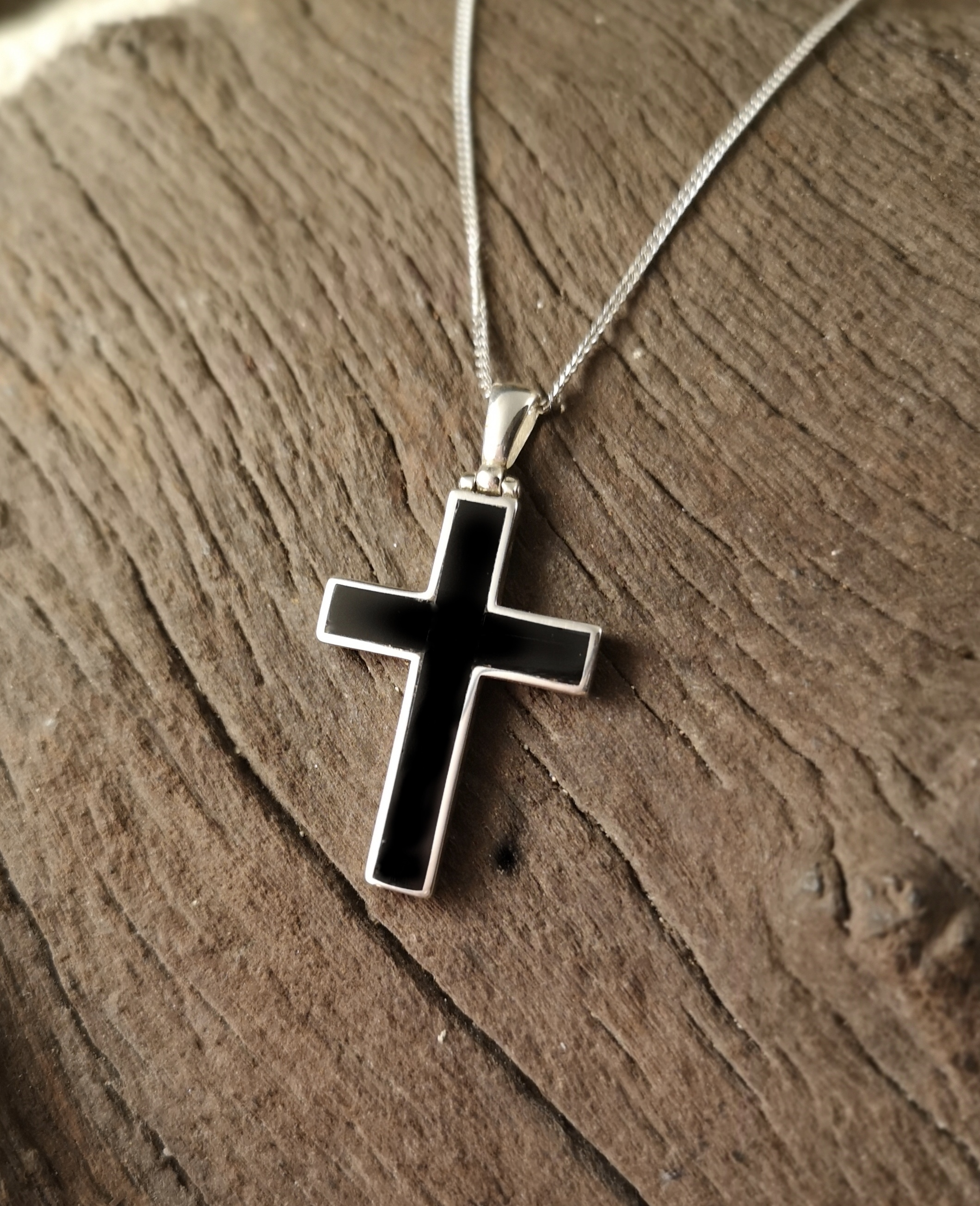 Classic Whitby Jet Cross