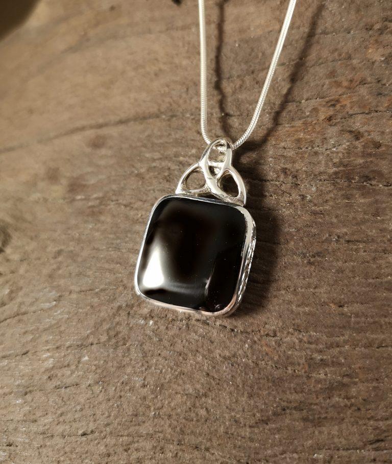 Celtic top square pendant
