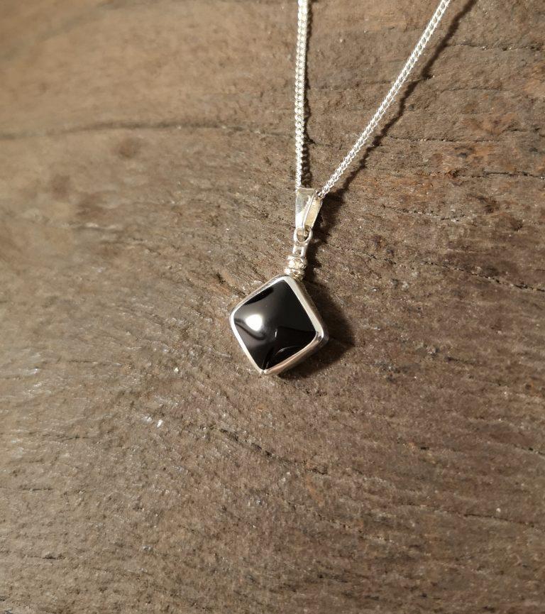 Bottle-top diamond pendant