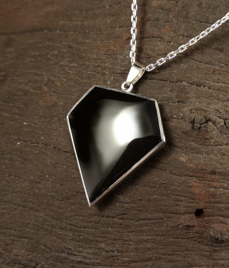 Large diamond cut pendant