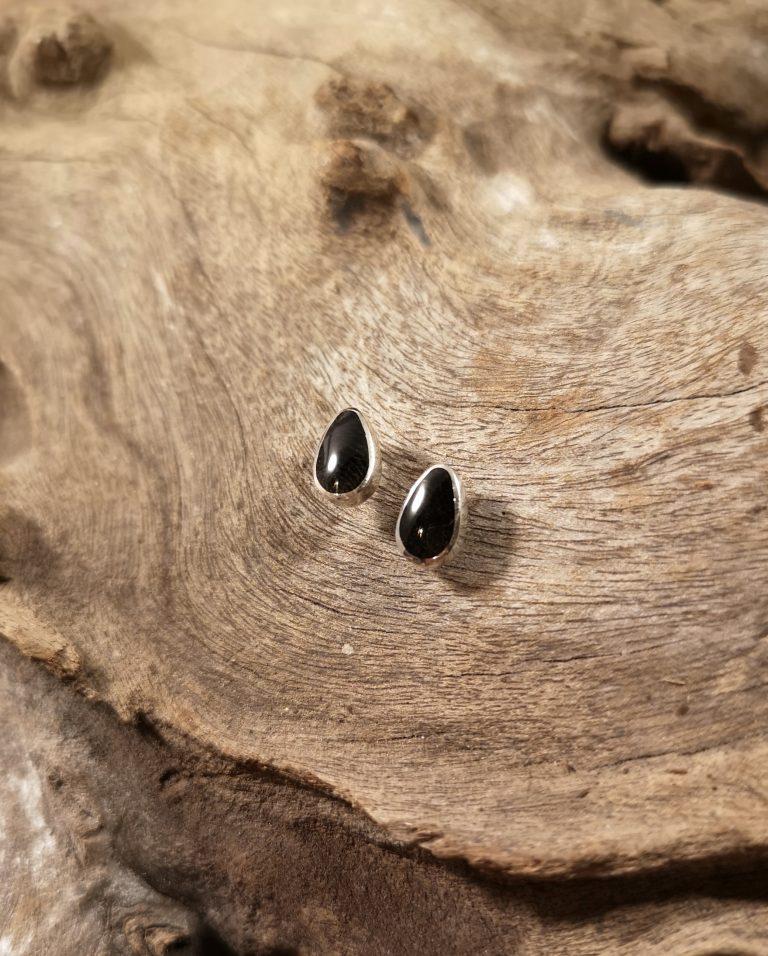 Small teardrop studs
