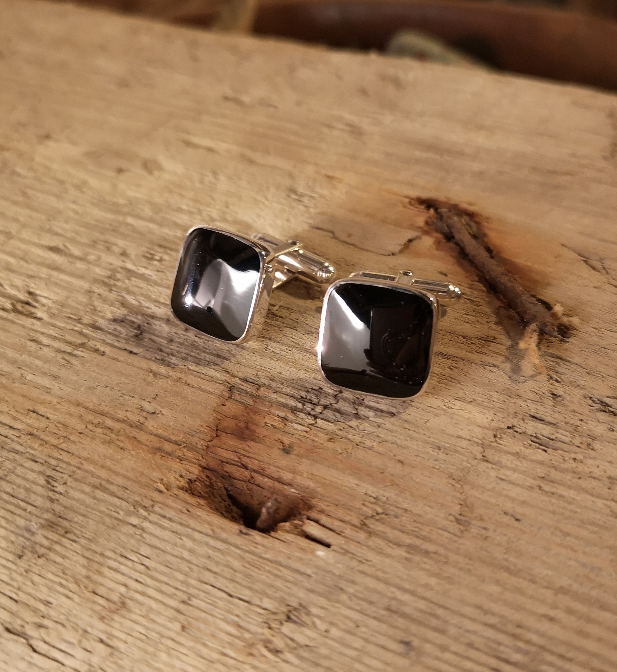 Large square cufflinks