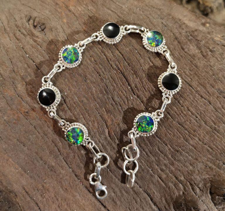 6mm rope-edge opal bracelet