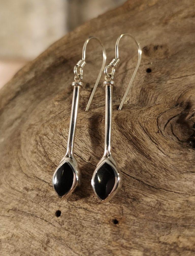 Long marquise drop earrings
