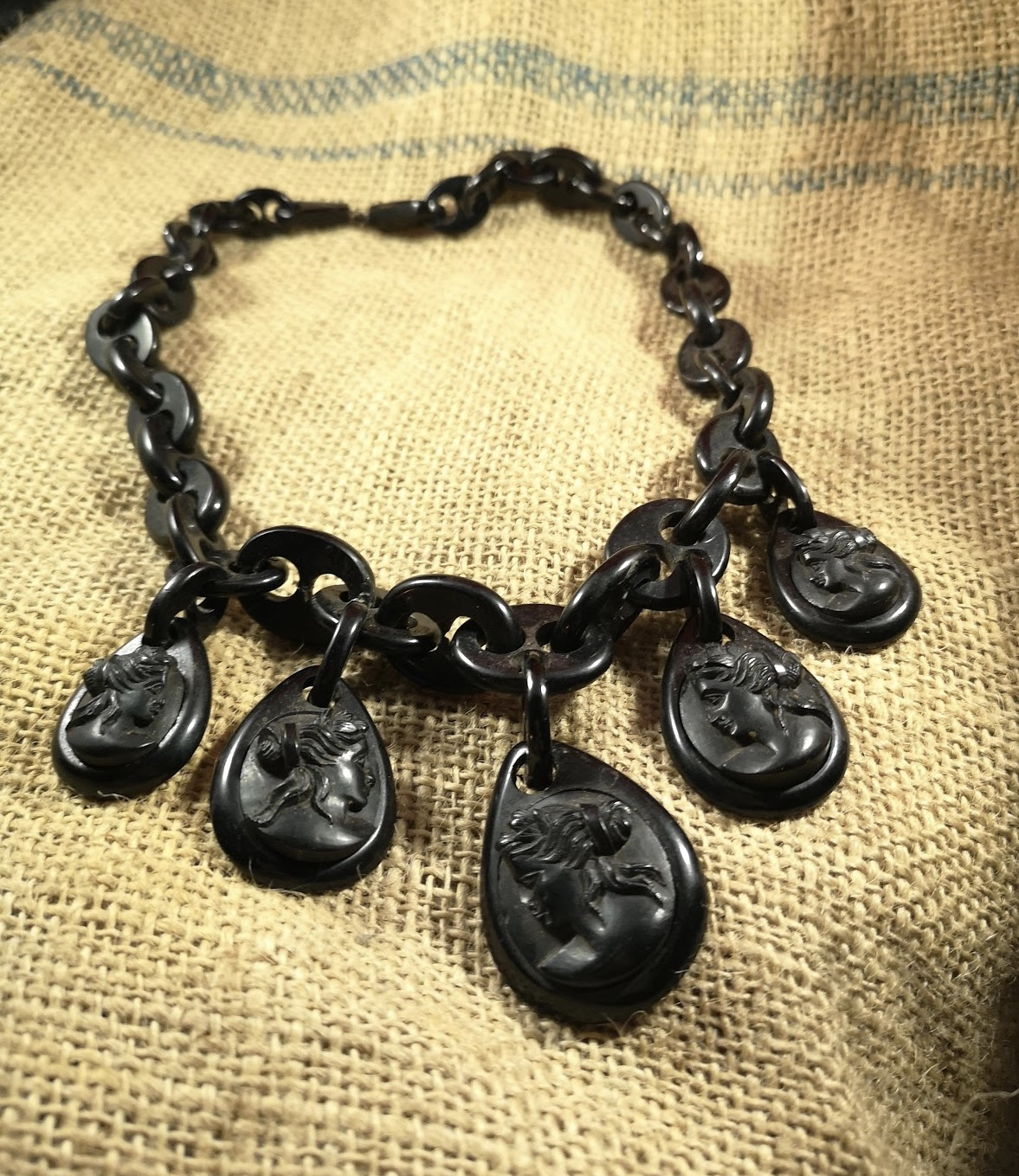 Antique Whitby Jet Collars