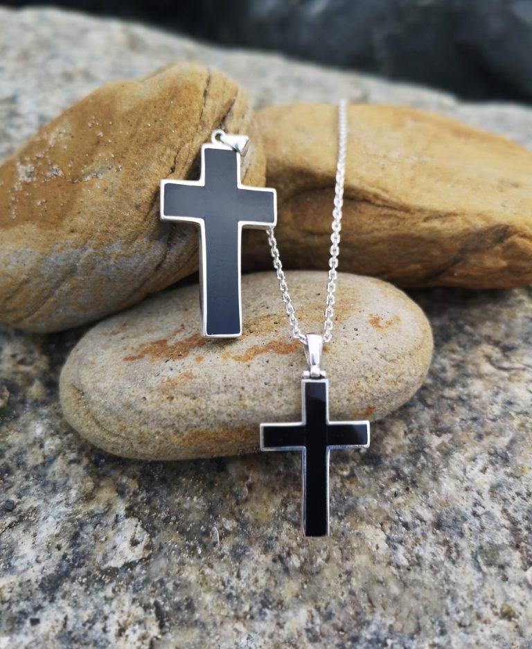 Whitby Jet Men's Crosses