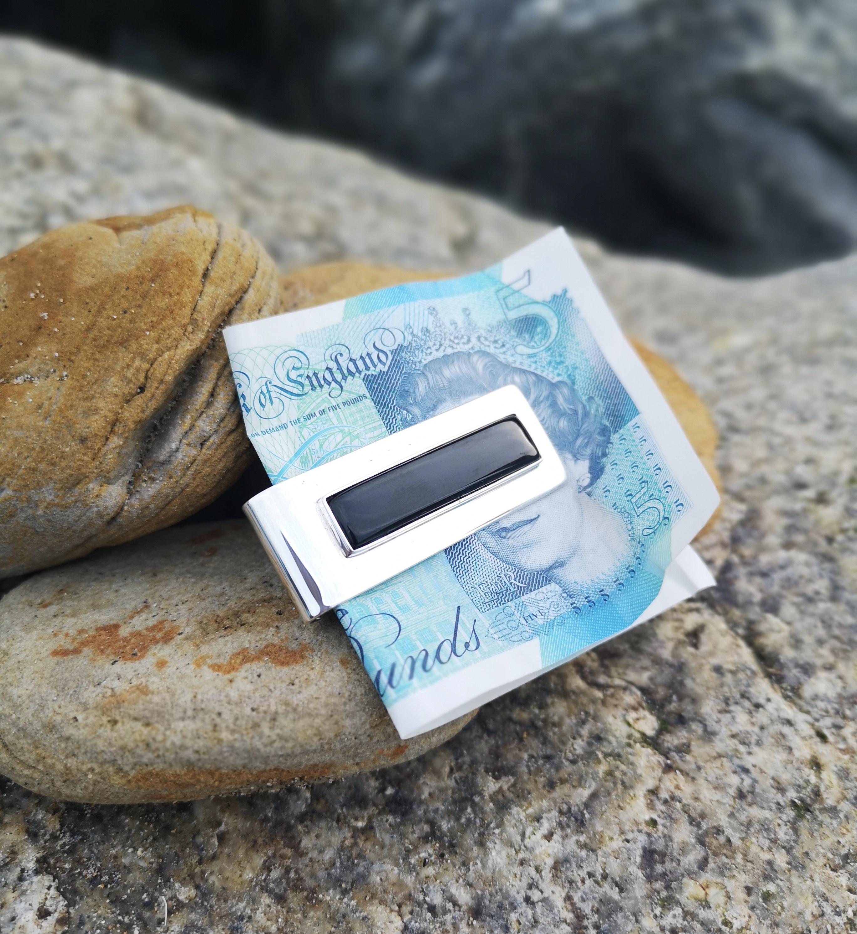 Whitby Jet money clip