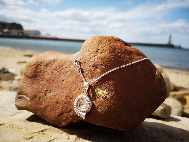 Sterling silver ammonite