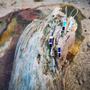 Whitby Jet, Turquoise and Lapis Lazuli