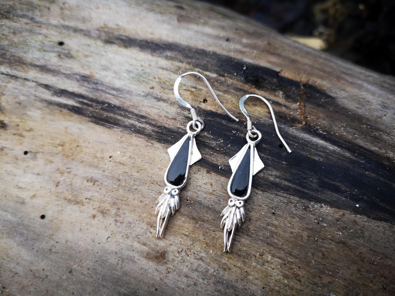 Whitby Jet Belemnite Earrings