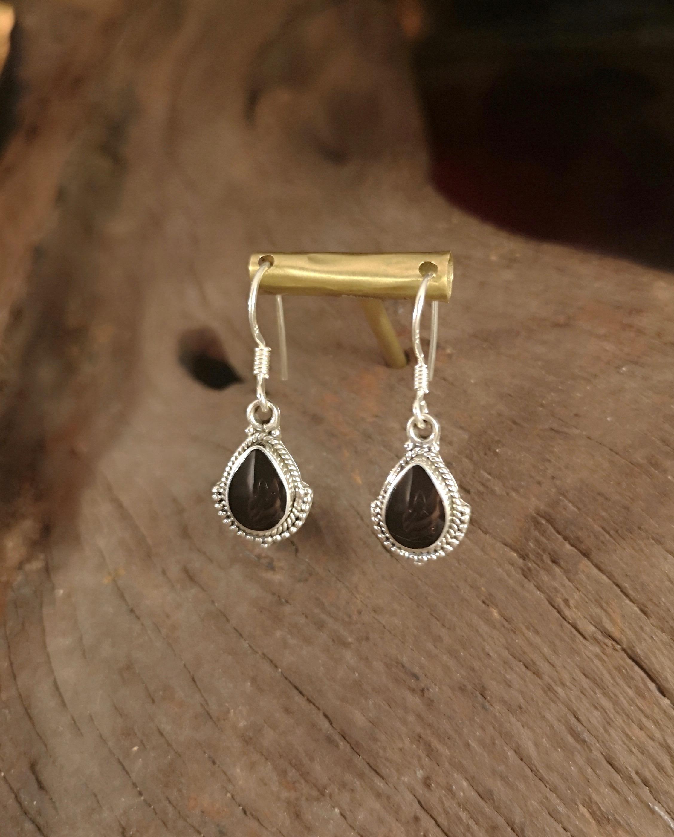 Aztec teardrop drop earrings