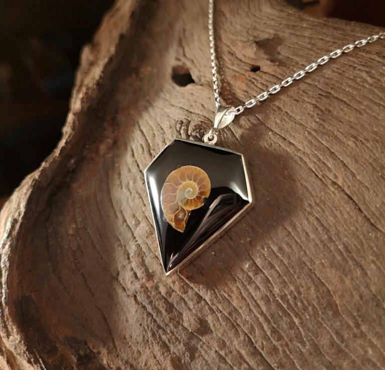 Large Diamond-cut Ammonite Inlay