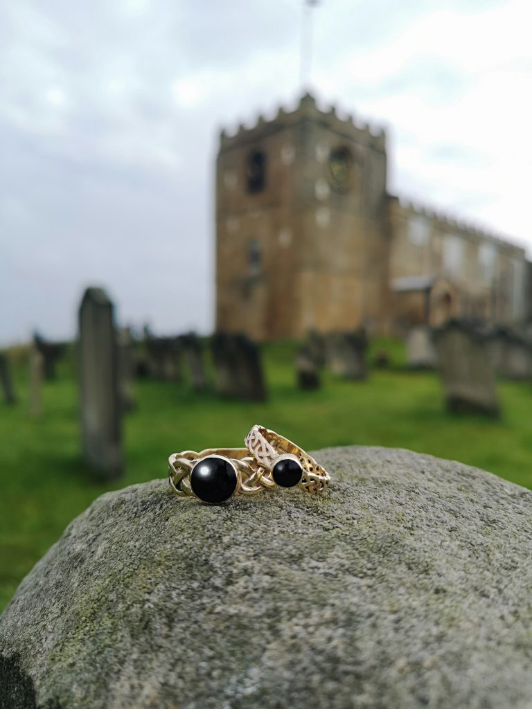 Whitby Jet Wedding Rings