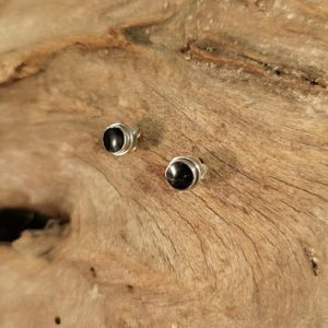 Cute Whitby Jet Studs