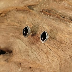 Whitby Jet Stud Earrings