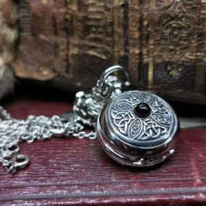 Small Whitby Jet Pocket Watch