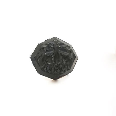 "Antique Whitby Jet Brooch ""Faith"""