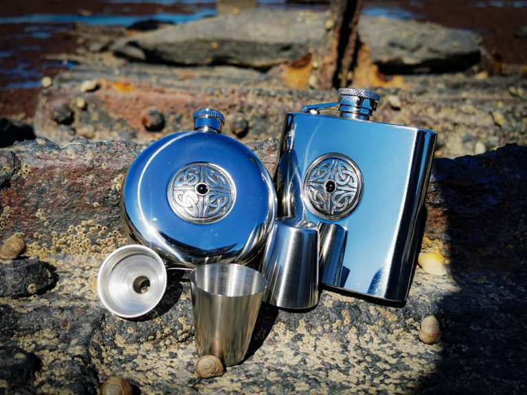 Whitby Jet Hip flask's