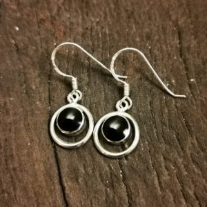 small round halo earrings