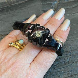 Antique Whitby Jet Bracelet
